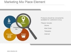 Marketing Mix Place Element Sample Ppt Presentation