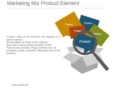 Marketing Mix Product Element Powerpoint Templates