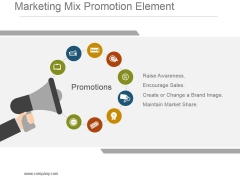 Marketing Mix Promotion Element Powerpoint Graphics