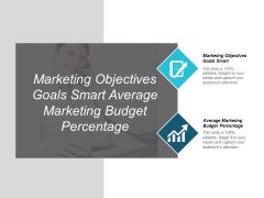 Marketing Objectives Goals Smart Average Marketing Budget Percentage Ppt PowerPoint Presentation Inspiration Deck