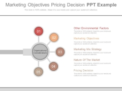 Marketing Objectives Pricing Decision Ppt Example