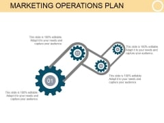 Marketing Operations Plan Ppt PowerPoint Presentation Diagrams