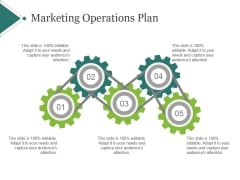 Marketing Operations Plan Ppt PowerPoint Presentation Professional