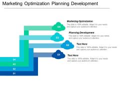Marketing Optimization Planning Development Ppt PowerPoint Presentation Ideas Layout