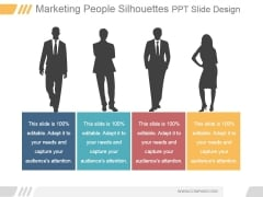Marketing People Silhouettes Ppt PowerPoint Presentation Layout
