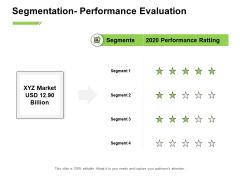 Marketing Performance Measurement Segmentation Performance Evaluation Ppt Layouts Professional PDF