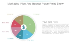 Marketing Plan And Budget Powerpoint Show
