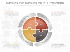 Marketing Plan Marketing Mix Ppt Presentation
