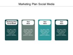 Marketing Plan Social Media Ppt PowerPoint Presentation Show Slide Cpb