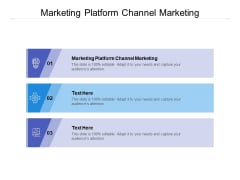 Marketing Platform Channel Marketing Ppt PowerPoint Presentation Layouts Graphics Template Cpb
