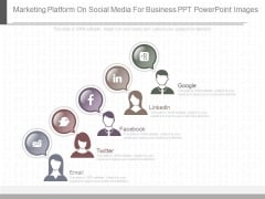 Marketing Platform On Social Media For Business Ppt Powerpoint Images