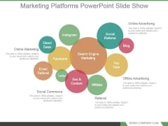 Marketing Platforms Powerpoint Slide Show