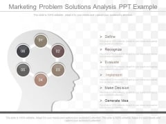 Marketing Problem Solutions Analysis Ppt Example