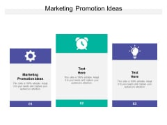 Marketing Promotion Ideas Ppt PowerPoint Presentation Model Background Cpb