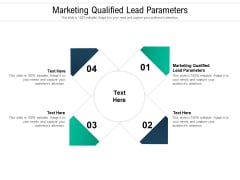 Marketing Qualified Lead Parameters Ppt PowerPoint Presentation Inspiration Graphics Design Cpb Pdf