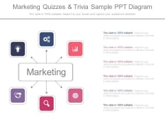 Marketing Quizzes And Trivia Sample Ppt Diagram