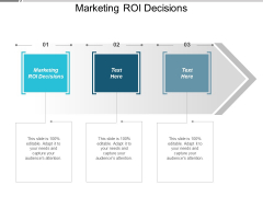 Marketing ROI Decisions Ppt PowerPoint Presentation Pictures Themes Cpb