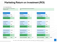 Marketing Return On Investment ROI Ppt PowerPoint Presentation Outline Design Ideas