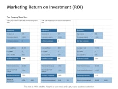 Marketing Return On Investment ROI Ppt PowerPoint Presentation Styles Samples
