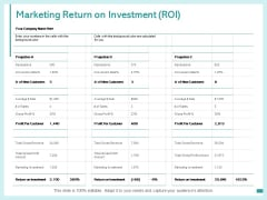 Marketing Return On Investment Roi Ppt PowerPoint Presentation Slides Slideshow