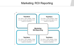 Marketing Roi Reporting Ppt PowerPoint Presentation Professional Mockup Cpb