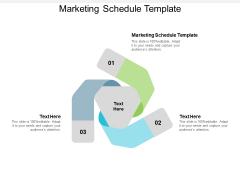Marketing Schedule Template Ppt PowerPoint Presentation Show Background Images Cpb
