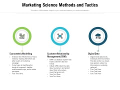 Marketing Science Methods And Tactics Ppt PowerPoint Presentation Gallery Clipart Images PDF