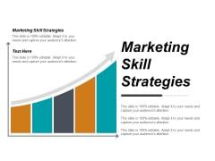 Marketing Skill Strategies Ppt PowerPoint Presentation Slides Layout Ideas Cpb