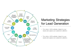 Marketing Strategies For Lead Generation Ppt PowerPoint Presentation Portfolio Slides