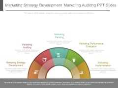 Marketing Strategy Development Marketing Auditing Ppt Slides