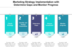 Marketing Strategy Implementation With Determine Gaps And Monitor Progress Ppt PowerPoint Presentation Gallery Design Ideas PDF