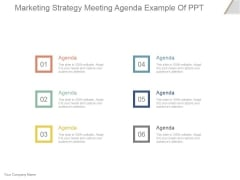Marketing Strategy Meeting Agenda Ppt PowerPoint Presentation Images