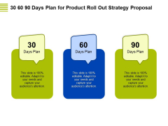 Marketing Strategy Proposal For Product Launch 30 60 90 Days Plan For Product Roll Out Strategy Proposal Elements PDF