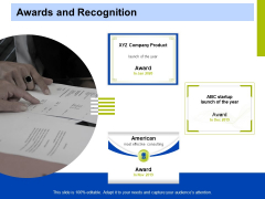 Marketing Strategy Proposal For Product Launch Awards And Recognition Themes PDF