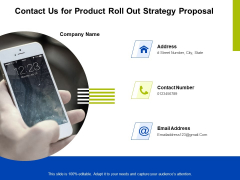 Marketing Strategy Proposal For Product Launch Contact Us For Product Roll Out Strategy Proposal Download PDF