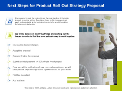 Marketing Strategy Proposal For Product Launch Next Steps For Product Roll Out Strategy Proposal Themes PDF