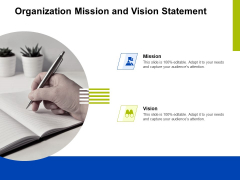 Marketing Strategy Proposal For Product Launch Organization Mission And Vision Statement Themes PDF