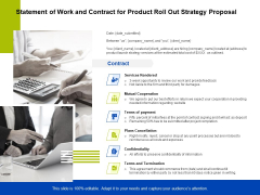 Marketing Strategy Proposal For Product Launch Statement Of Work And Contract For Product Roll Out Strategy Proposal Inspiration PDF