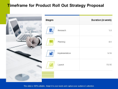 Marketing Strategy Proposal For Product Launch Timeframe For Product Roll Out Strategy Proposal Information PDF