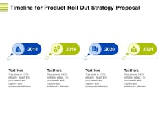 Marketing Strategy Proposal For Product Launch Timeline For Product Roll Out Strategy Proposal Background PDF