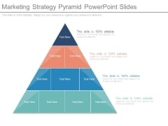 Marketing Strategy Pyramid Powerpoint Slides