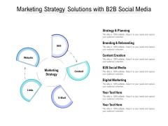 Marketing Strategy Solutions With B2b Social Media Ppt PowerPoint Presentation Layouts Layout Ideas