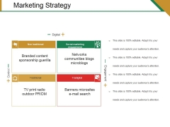 Marketing Strategy Template 1 Ppt PowerPoint Presentation Outline Show