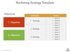 Marketing Strategy Template Ppt PowerPoint Presentation Background Designs