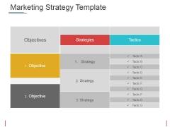 Marketing Strategy Template Ppt PowerPoint Presentation Ideas Information