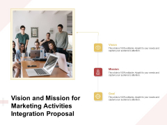 Marketing Strategy Vision And Mission For Marketing Activities Integration Proposal Ideas PDF