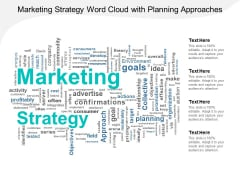 Marketing Strategy Word Cloud With Planning Approaches Ppt Powerpoint Presentation Icon Maker