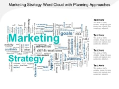 Marketing Strategy Word Cloud With Planning Approaches Ppt PowerPoint Presentation Slides Portfolio