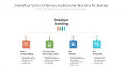 Marketing Tactics For Enhancing Employer Branding For Business Ppt Model Visuals PDF