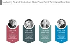 Marketing Team Introduction Slide Powerpoint Templates Download